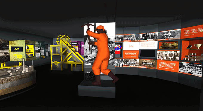 How the new coal mining gallery will look at the Museum of Cannock Chase.